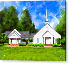 Old Country Church - Whitewater Baptist Acrylic Print