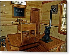 Old Country School Room Acrylic Print by Ralph  Perdomo