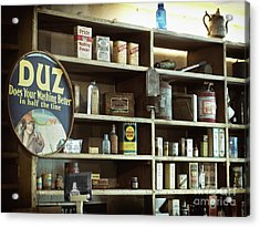 Old Country Store Shelves Acrylic Print