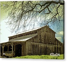 Acrylic Print featuring the photograph Old County Barn by William Havle