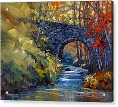 Old County Farm Bridge Acrylic Print