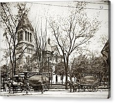 Old Courthouse Public Square Wilkes Barre Pa Late 1800s Acrylic Print