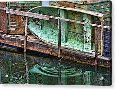 Old Crusty Dinghy Acrylic Print