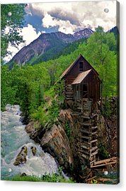 Old Crystal Mill Acrylic Print