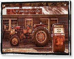 Old Days Vintage Acrylic Print by Debra and Dave Vanderlaan