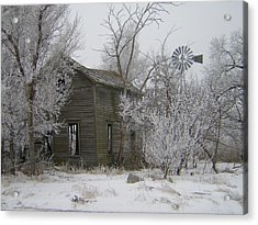 Old Deserted Farmstead Acrylic Print by Deena Keller