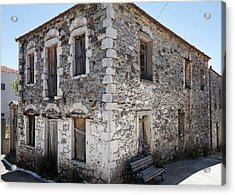 Old Deserted Village House In Greece Acrylic Print by Al Poullis