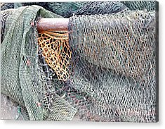 Acrylic Print featuring the photograph Old Discarded Fishing Nets by Yali Shi