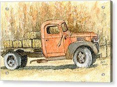 Old Dodge Truck In Autumn Acrylic Print