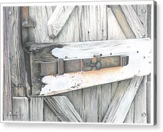 Old Door At Ravello Italy Acrylic Print