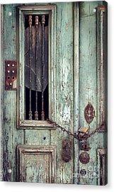 Old Door Detail Acrylic Print by Carlos Caetano