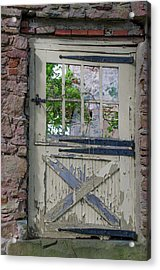 Acrylic Print featuring the photograph Old Door From Bridgetown Millhouse Bucks County Pa by Bill Cannon