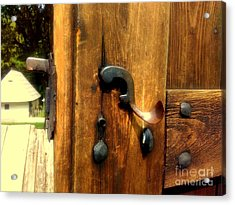 Old Door Handle Acrylic Print