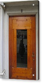 old door in Lisbon with my reflection Acrylic Print
