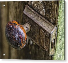 Old Door Knob Acrylic Print by JRP Photography