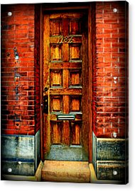 Old Door Acrylic Print by Perry Webster