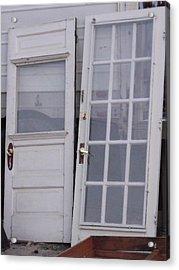 Old Doors Acrylic Print by Angela Christine