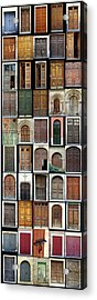 Acrylic Print featuring the photograph Old Doors by Frank Tschakert