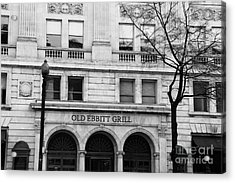 Old Ebbitt Grill Facade Black And White Acrylic Print