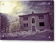 Old Edmonton High School Ir Acrylic Print