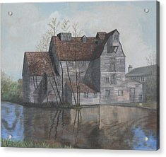 Old English Mill Acrylic Print by Dan Bozich