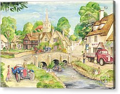 Old English Village Acrylic Print by Morgan Fitzsimons