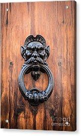 Old Face Door Knocker Acrylic Print