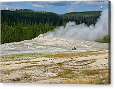 Old Faithful - An American Icon In Yellowstone National Park Wy Acrylic Print by Christine Till