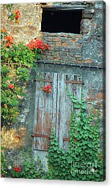Acrylic Print featuring the photograph Old Farm Door by Frank Stallone