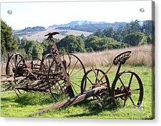 Old Farm Equipment . 7d9744 Acrylic Print by Wingsdomain Art and Photography