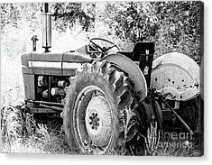 Old Farm Ford Tractor - Bw Acrylic Print