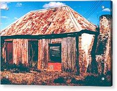 Old Farm House Acrylic Print by Gary Wonning