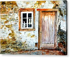 Acrylic Print featuring the painting Old Farm House by Sher Nasser