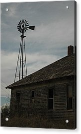 Old Farm Acrylic Print by Julie Clements