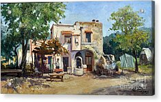 Acrylic Print featuring the painting Old Farm by Rosario Piazza