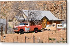 Old Farm Trucks Along Route 66 Acrylic Print