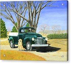 Old Farmhands Acrylic Print