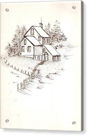 Old Farmhouse Acrylic Print by Barbara Cleveland