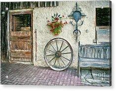 Acrylic Print featuring the photograph Old Farmhouse by Jutta Maria Pusl