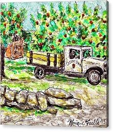 Old Farming Truck Acrylic Print
