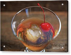 Acrylic Print featuring the photograph Old Fashioned Cocktail by Edward Fielding
