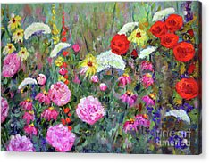 Old Fashioned Garden Acrylic Print by Claire Bull