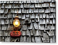 Old Fashioned Lamp And Wooden Shingles Frederick Maryland Acrylic Print