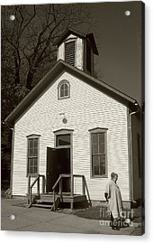Old-fashioned School House Acrylic Print by Emily Kelley