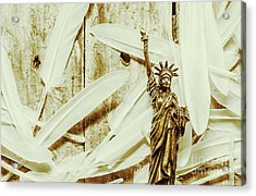 Old-fashioned Statue Of Liberty Monument Acrylic Print by Jorgo Photography - Wall Art Gallery