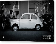 Old Fiat On The Streets Of Florence Acrylic Print by Edward Fielding