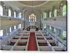 Old First Church Box Pews Acrylic Print