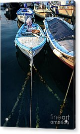 Old Fishing Boats Of The Adriatic Acrylic Print
