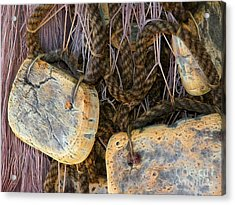 Old Fishing Nets Acrylic Print by Lutz Baar