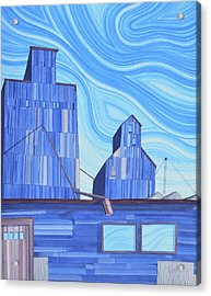 Acrylic Print featuring the painting Old Flat Top by Scott Kirby